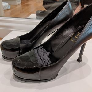 YSL black Tribute Pumps
